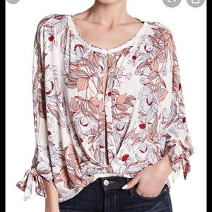 NEW NWT Free People Blouse Floral Medium